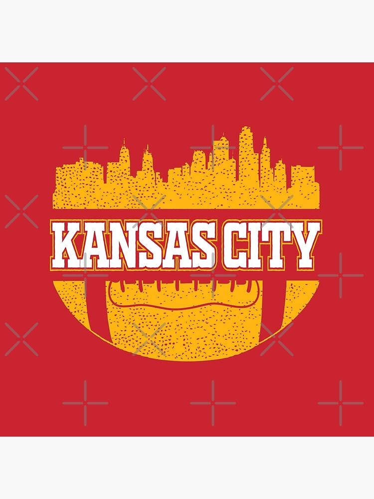 Retro Chiefs Football Fan Vintage Kansas City Skyline by pixeljamz