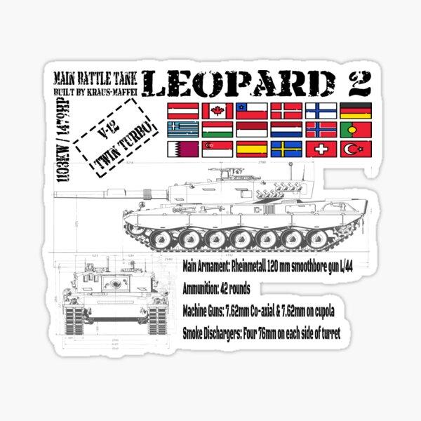 Leopard 2 Main Battle Tank Sticker