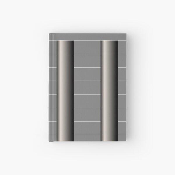Dynamic Strength grey,black and white geometric design Hardcover Journal