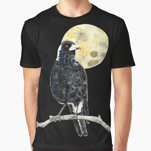 Moonlit Magpie by Winter Owls Graphic T-Shirt