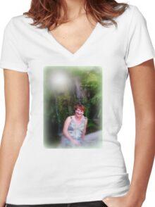 Enchanting Women's Fitted V-Neck T-Shirt