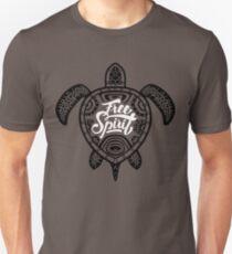 Free Spirit - Green Turtle Illustrative Surfer Style Design Unisex T-Shirt