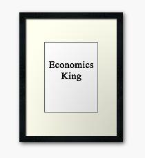 Economics King  Framed Print
