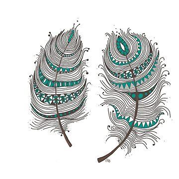 Gypsy Feathers by Ibubblesart