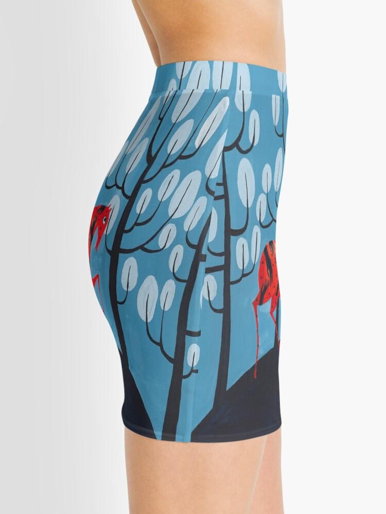 Alternate view of Smug red horse Mini Skirt
