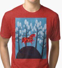 Smug red horse Tri-blend T-Shirt