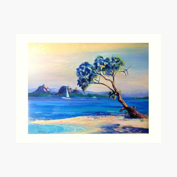 Bribie Island  across Pumicestone Passage Art Print
