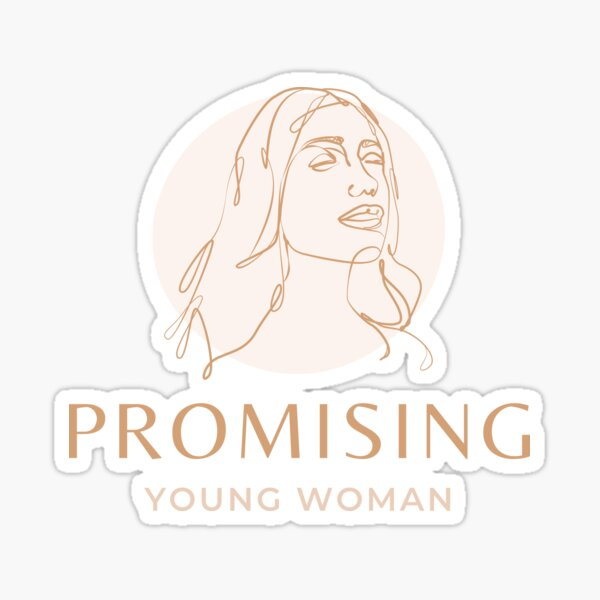 Promising Young Woman Sticker