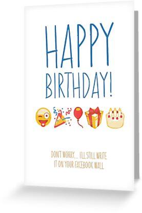 Funny Social Media Emoji Birthday Card By Funnicards
