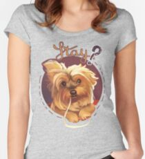 Trufa the Yorkie Women's Fitted Scoop T-Shirt