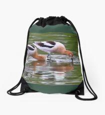 American Avocet Water Bird Drawstring Bag
