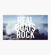 Real Boats Rock Photographic Print