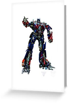 Tarjetas de felicitacin movie optimus prime blueprint de movie optimus prime blueprint de draconis130 malvernweather Image collections