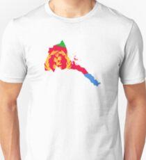 Flag Map of Eritrea  T-Shirt
