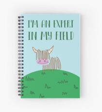 Highland Cow Expert In My Field Spiral Notebook
