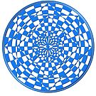 Optical Illusion I in blue by metronomad