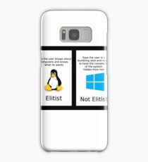 linux vs windows Samsung Galaxy Case/Skin