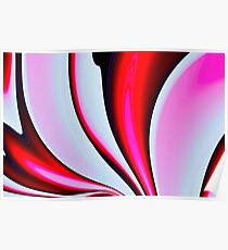 Abstract Fractal Colorways 02BPk Poster
