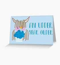 Highland Cow Birthday  Greeting Card