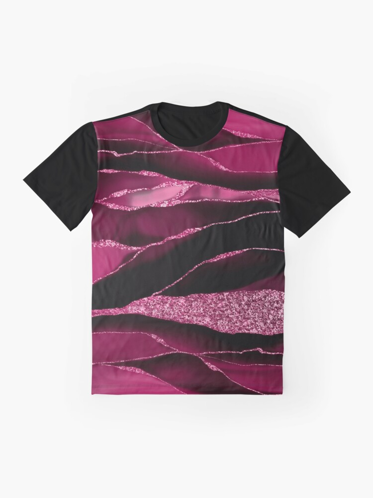 Alternate view of Purple And Deep Red Glamour Marble And Agate Landscapes Graphic T-Shirt
