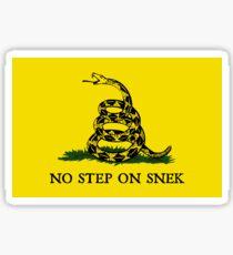 Pegatina Sin paso en la bandera de Snek