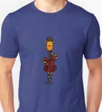 Cool Funny Giraffe with Electric Guitar Body T-Shirt
