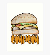 omnom cheeseburger Art Print