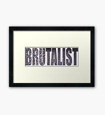 brutalist Framed Print