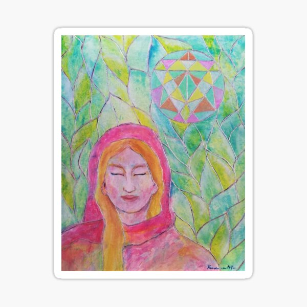 Lady Nada - Ascended master by Renate van Nijen Sticker