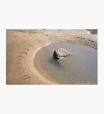 TIDAL ROCK POOL AT SANDYMOUTH BEACH CORNWALL Photographic Print