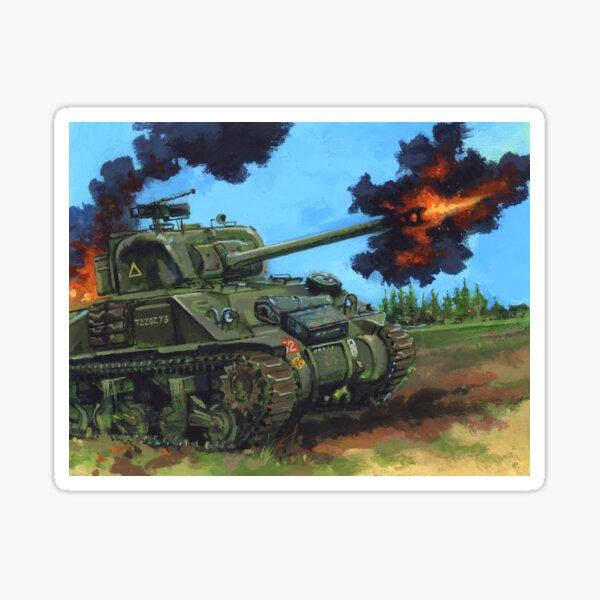 WW2 British Army Sherman Firefly Tank Sticker