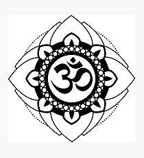 Yoga Ohm Mandala Photographic Print