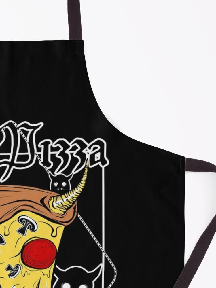 Alternate view of Hail Pizza! Eat Satan! Apron