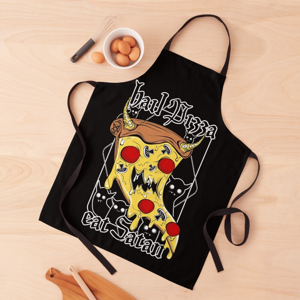 Hail Pizza! Eat Satan! Apron