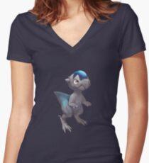 Pachycephalomon Women's Fitted V-Neck T-Shirt