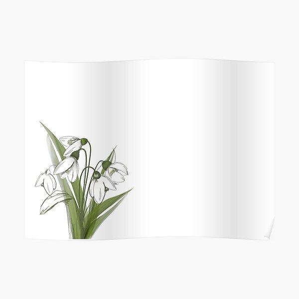 Snowdrop- Winter flower Poster