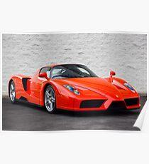 Rosso Dino Ferrari Enzo! Poster