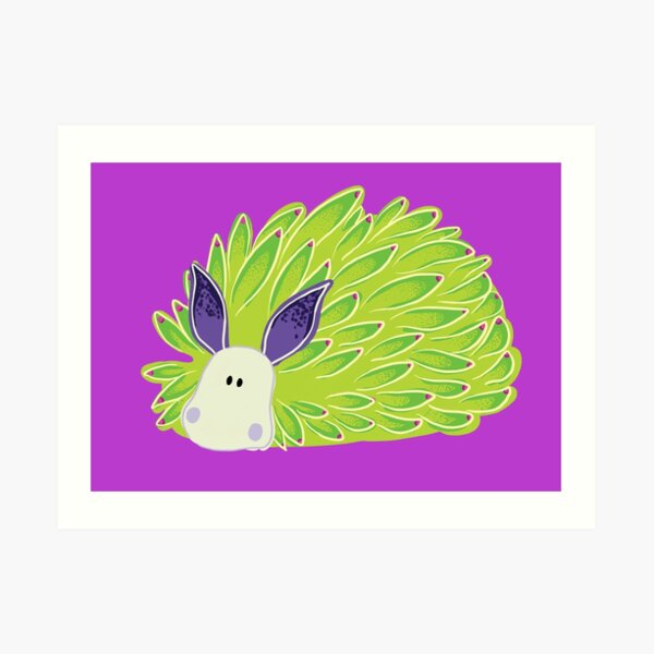 Leafy Boi - Leaf sheep leaf slug Art Print