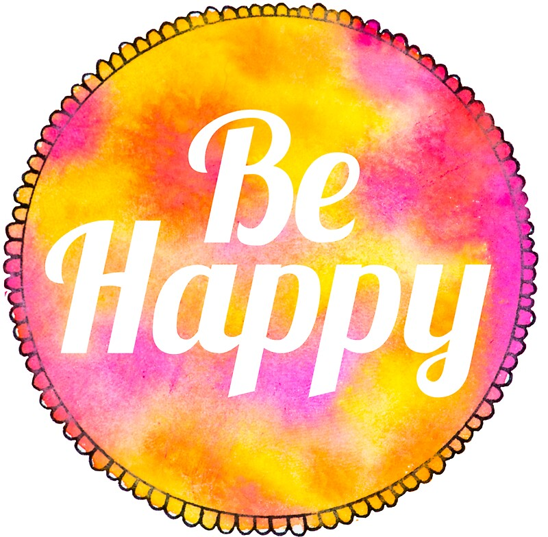 """""""Be Happy Tumblr Watercolor Sticker"""" Stickers by ..."""