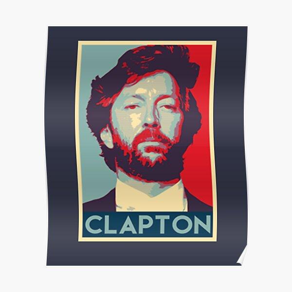 Eric Clapton Rétro Vintage Poster