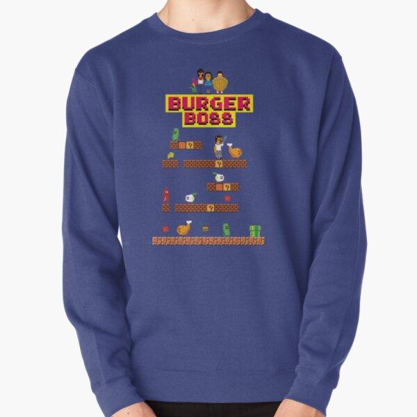 Burger Boss pixel art Pullover Sweatshirt