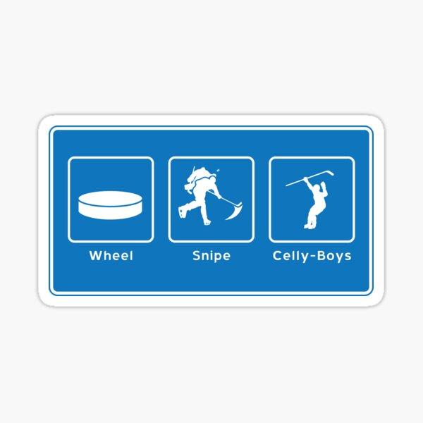 Wheel, Snipe, Celly, Boys! Letterkenny Hockey Inspired Sticker