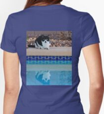 Groucho Marx Kitty-Pool Side Womens Fitted T-Shirt