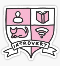 Introvert cat lady netflix wifi books fandom reading awkward print Sticker