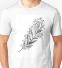 Feather Zentangle - Hand Drawn T-Shirt
