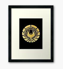 Battlestar Prometheus Golden Logo Framed Print