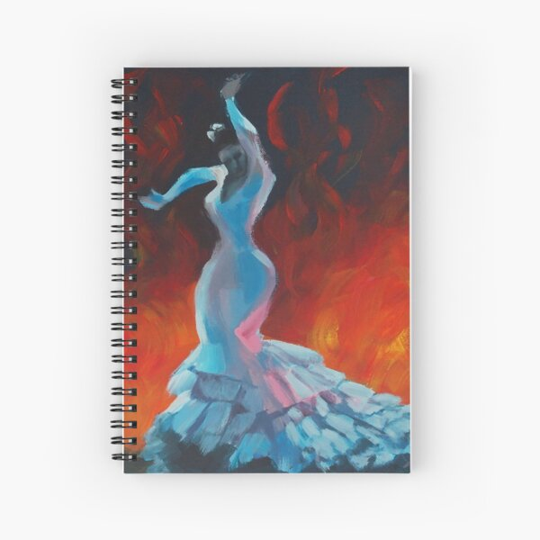 Flame - Flamenco Dancer Painting Spiral Notebook