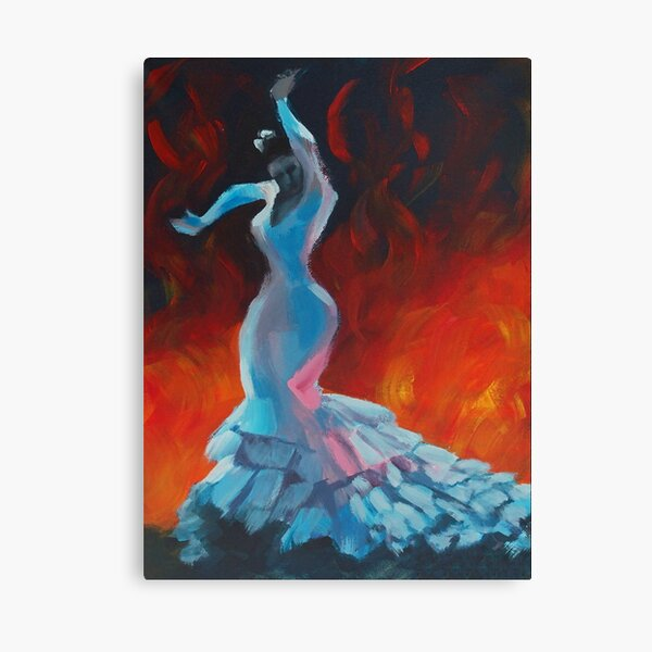 Flame - Flamenco Dancer Painting Canvas Print