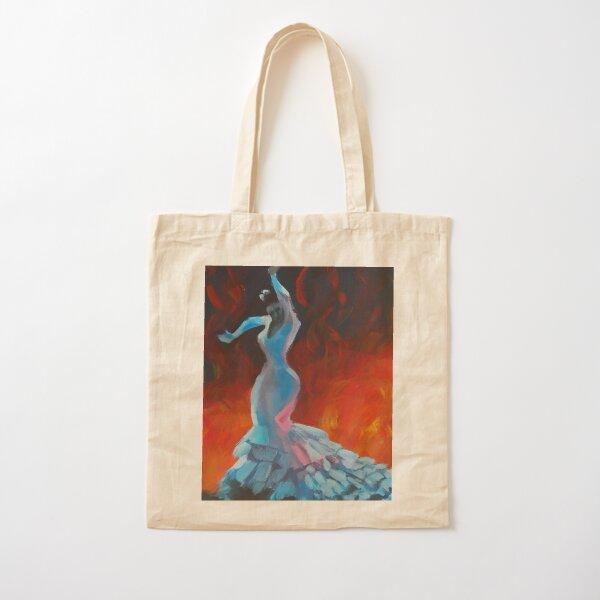 Flame - Flamenco Dancer Painting Cotton Tote Bag