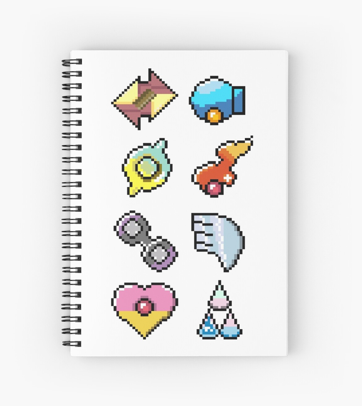 """Pokemon Hoenn Badges: Pixel Art Badges"" Spiral Notebooks ..."